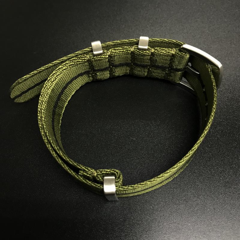 20mm 綠/黑色Nato Style高質尼龍錶帶 適合Rolex Omega, IWC ,Tudor