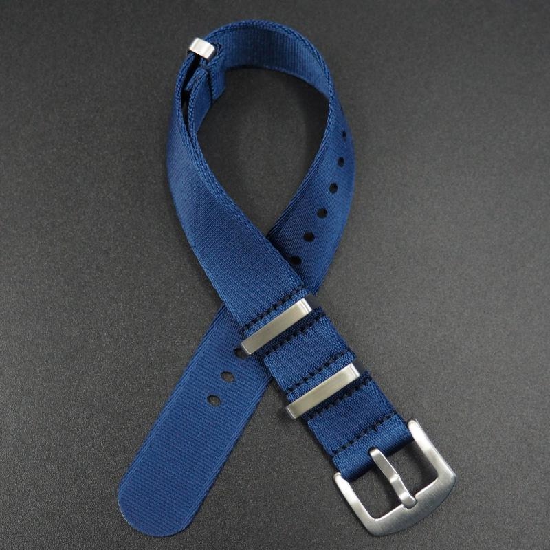 20mm, 22mm 藍色 Nato 尼龍錶帶