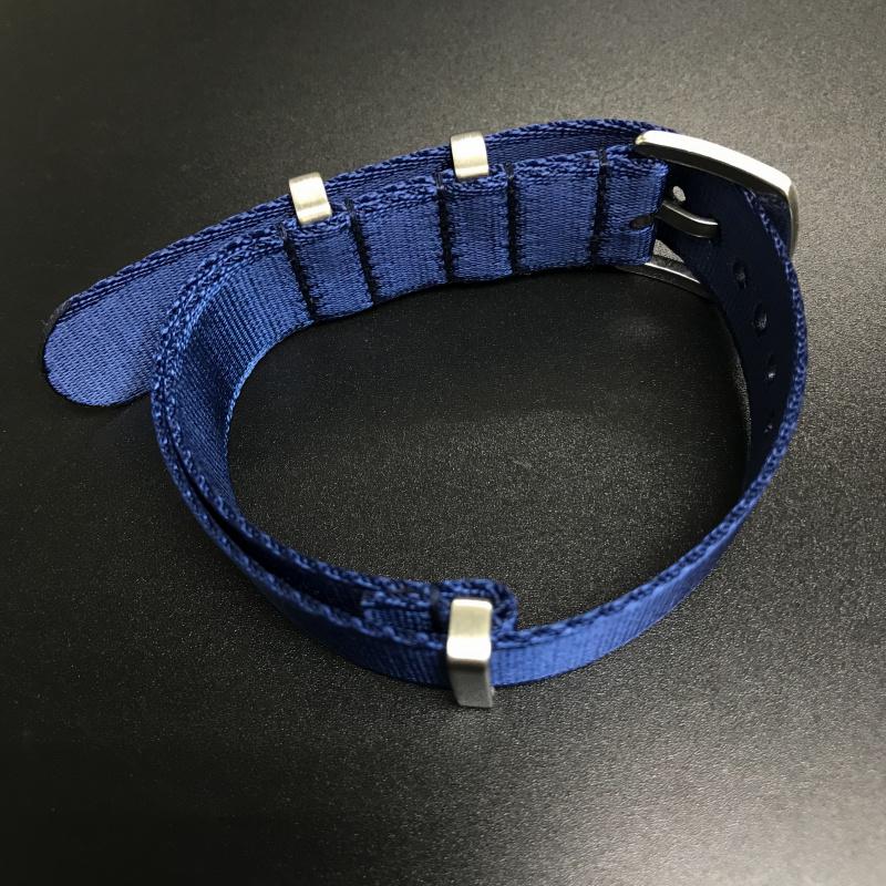 20mm 藍色Nato Style高質尼龍錶帶 適合Rolex Omega, IWC ,Tudor