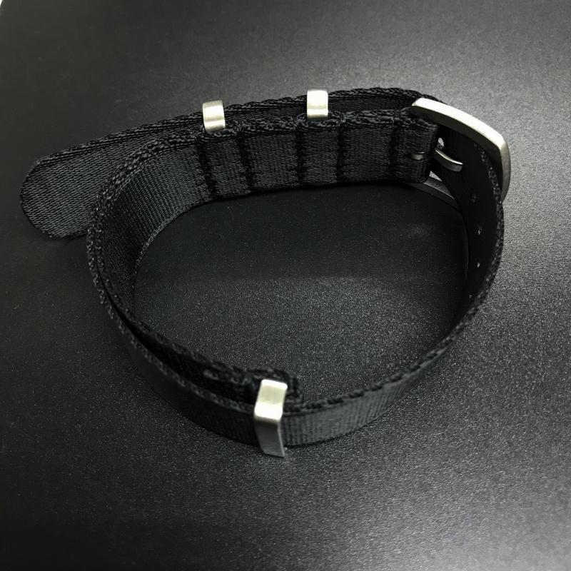 20mm, 22mm 黑色 Nato 尼龍錶帶