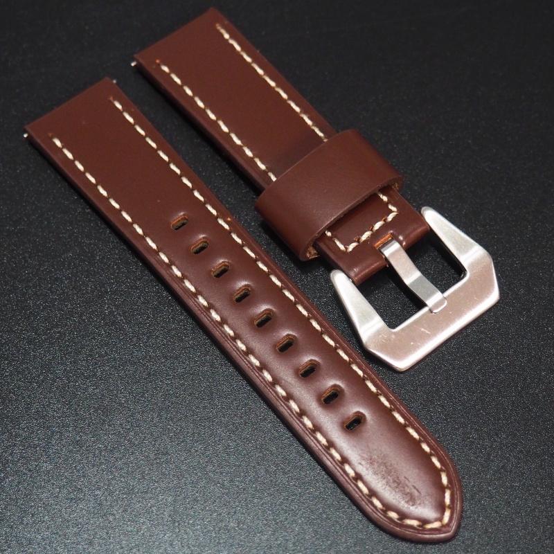 全新22mm 紅色牛皮錶帶 適合IWC, Panerai, Omega, Tudor, Seiko