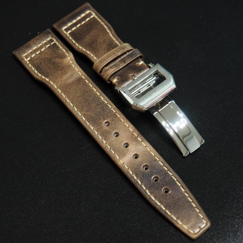 22mm IWC 金橙色牛皮錶帶