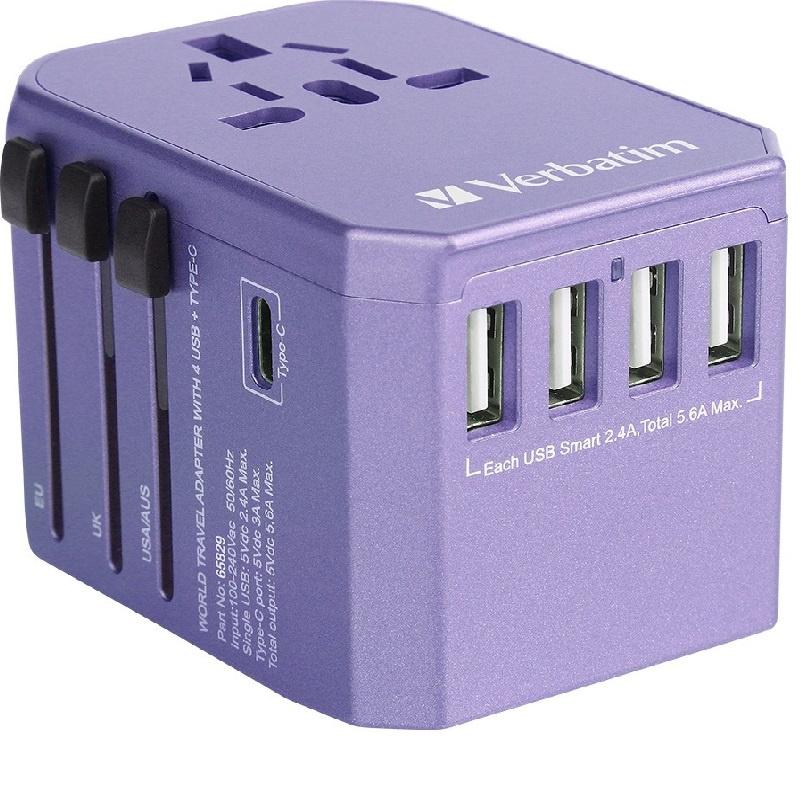 Verbatim 5 Ports Universal Travel Adapter 旅行轉插器 【行貨保養】