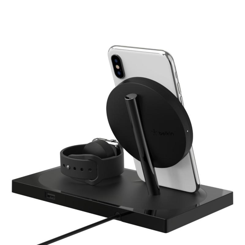 Belkin BOOST↑UP Wireless Charging Dock for iPhone + Apple Watch + USB-A port 【行貨保養】