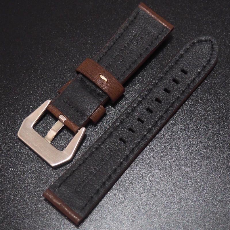 全新22mm 棕色意大利牛皮手工錶帶 適合IWC, Panerai, Omega, Tudor, Seiko