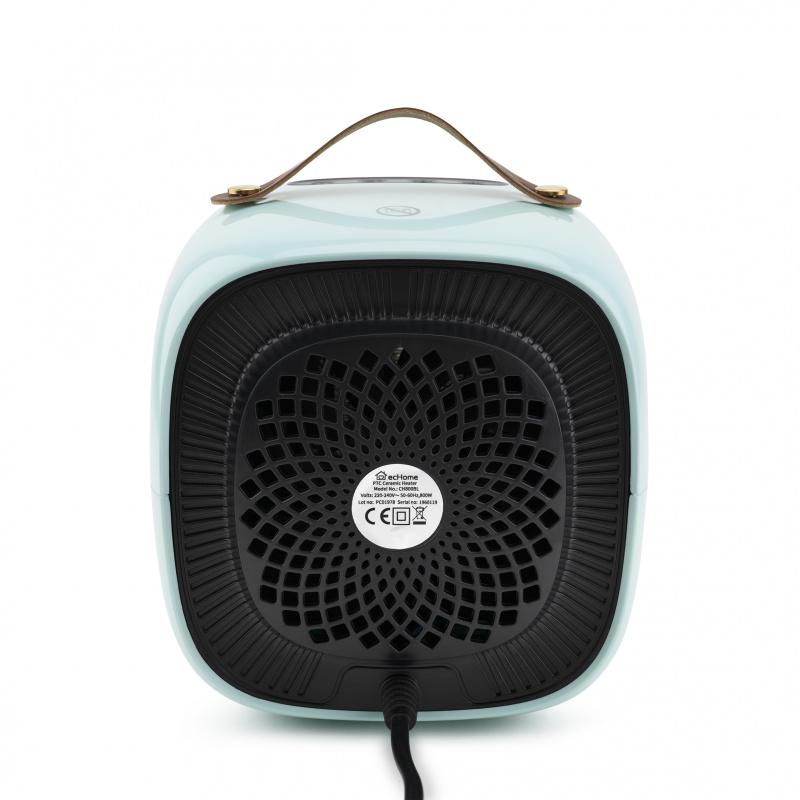ecHome PTC陶瓷暖爐 800W(粉藍) (CH800BL)