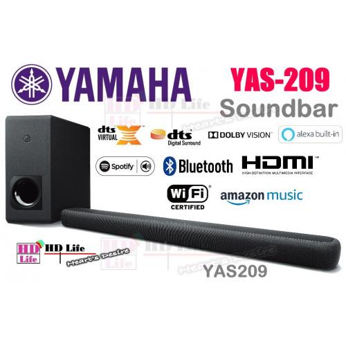 Yamaha YAS-209 Soundbar連無線超低音喇叭套裝