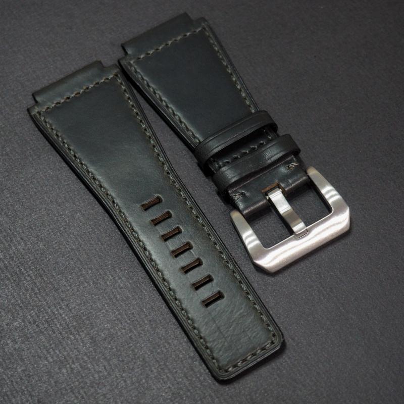24mm Bell & Ross Style 優質黑色牛皮錶帶