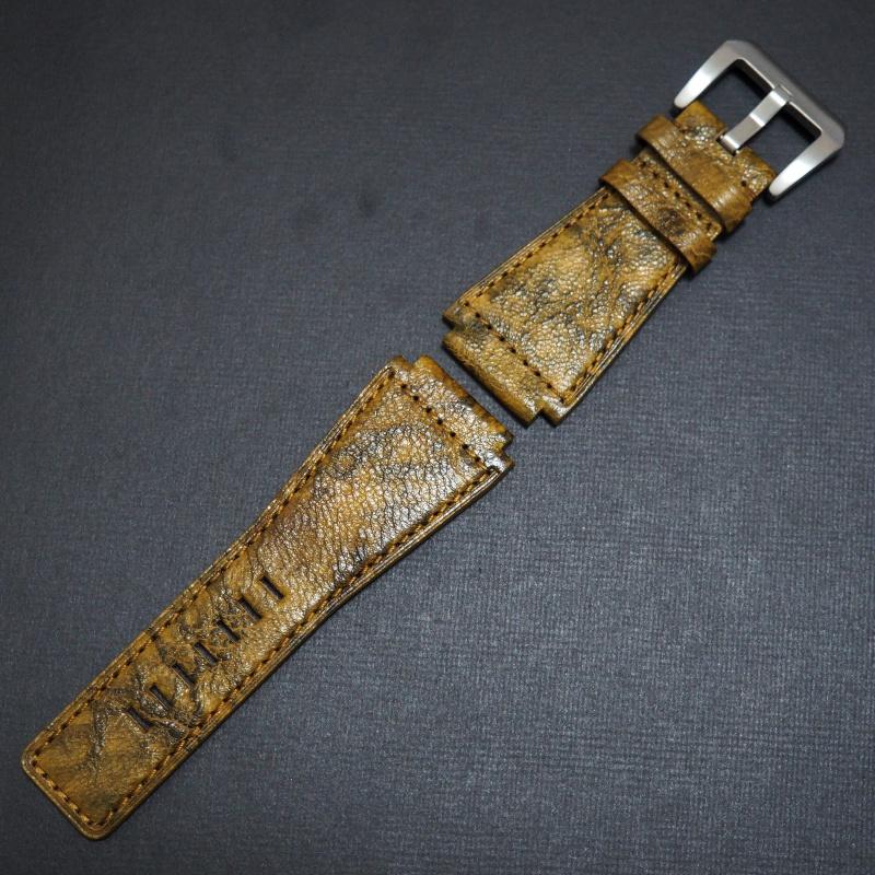 24mm Bell & Ross Style 優質黃色牛皮錶帶