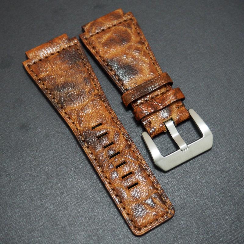 24mm Bell & Ross Style 優質橙色牛皮錶帶