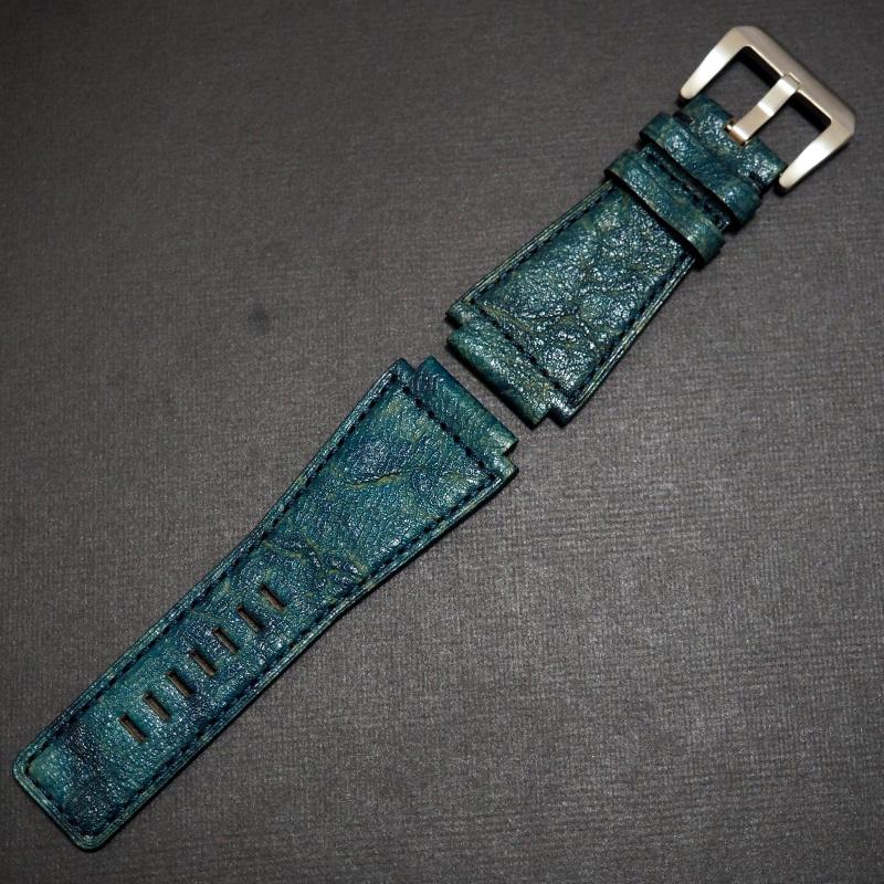24mm Bell & Ross Style 優質綠色牛皮錶帶