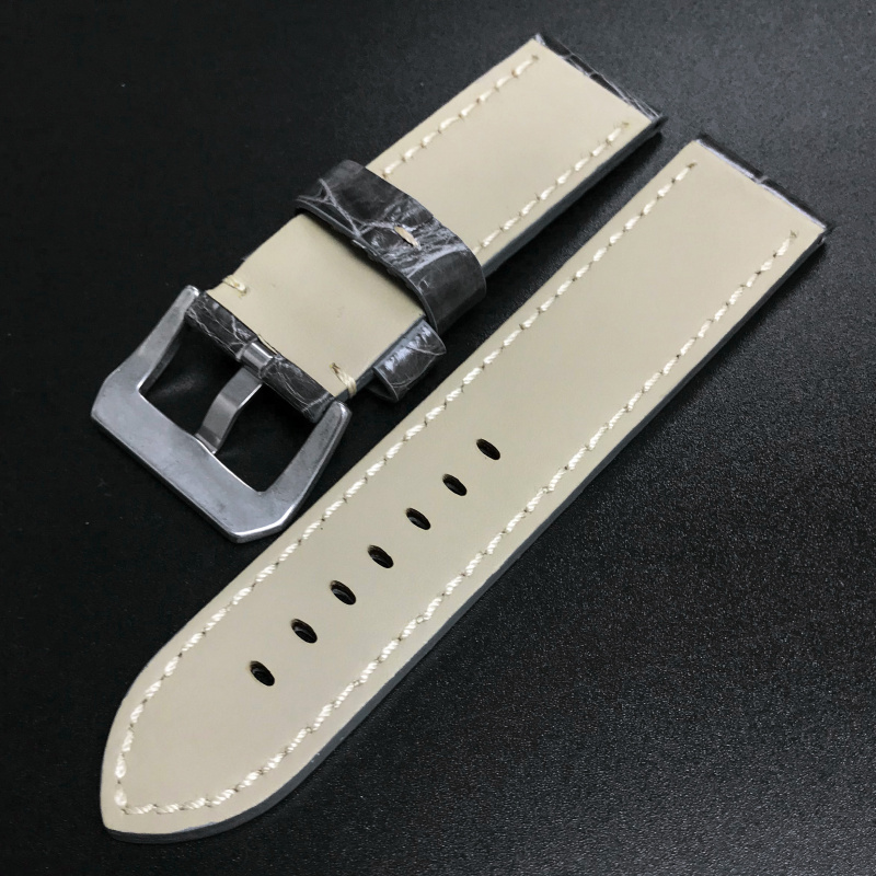 24mm Panerai 灰色鱷魚皮錶帶