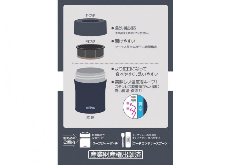 THERMOS - 真空燜燒杯500ml JBM-501, 深藍色