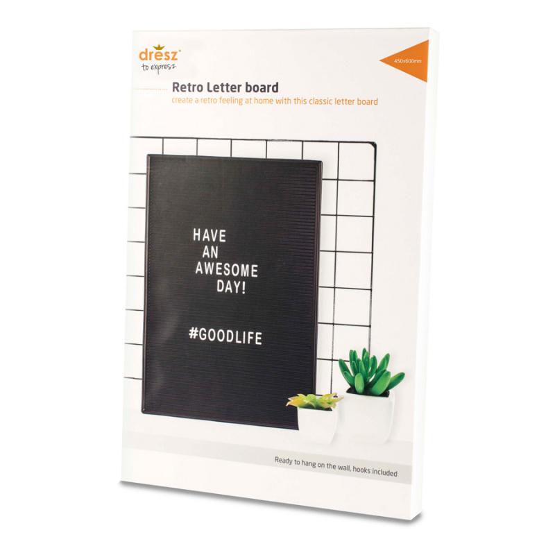 Dresz 黑色插字板 450*600mm 裝飾擺設板 letterboard