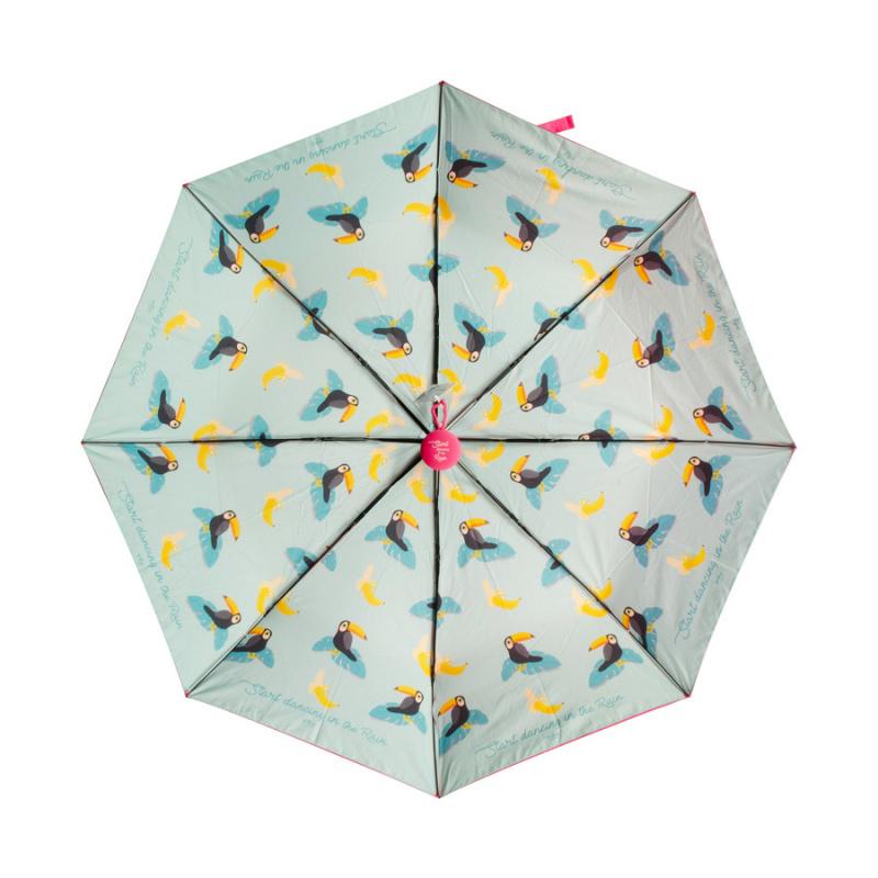 雙面圖案雨傘 縮骨遮 - 雨中漫舞