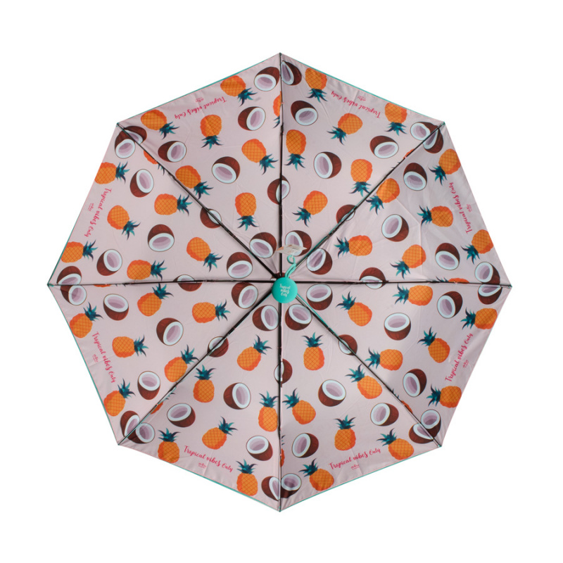 雙面圖案雨傘 縮骨遮 - 熱帶森林