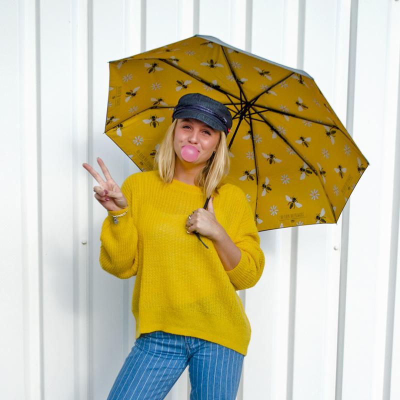 雙面圖案雨傘 縮骨遮 - 沒有下雨, 哪來花兒