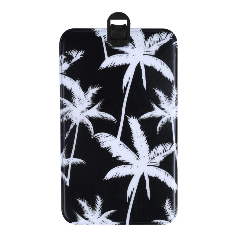 行李牌 拉桿箱綁帶 飛機牌 旅行箱掛牌 吊牌 - 黑色棕櫚