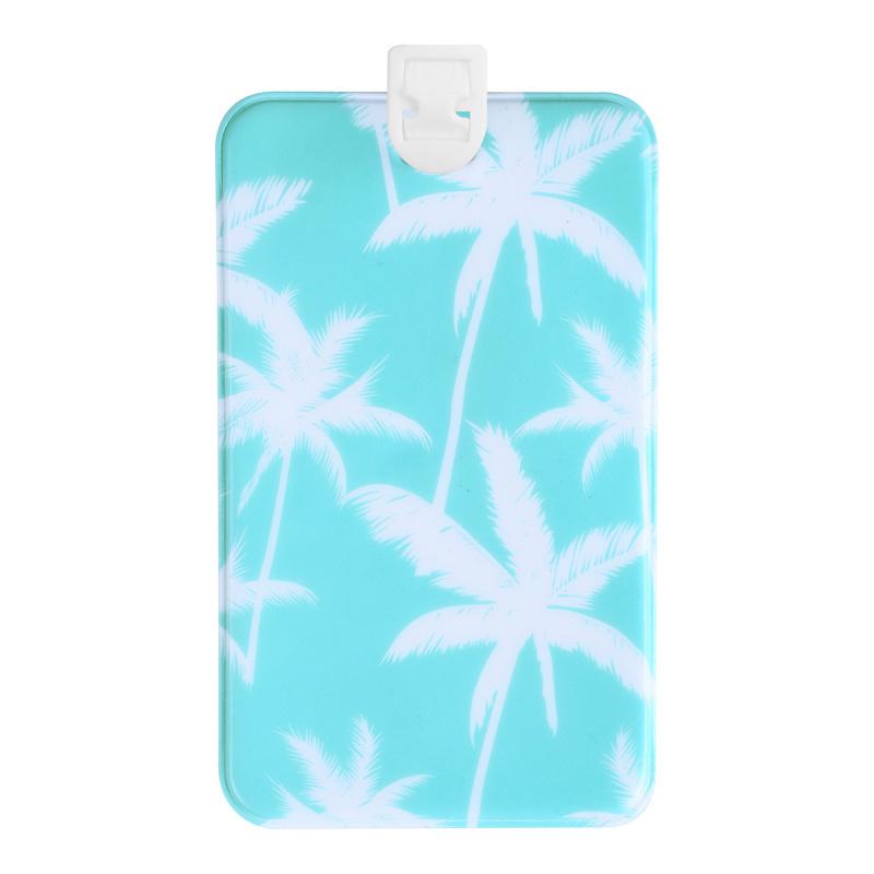 行李牌 拉桿箱綁帶 飛機牌 旅行箱掛牌 吊牌 - 藍色棕櫚