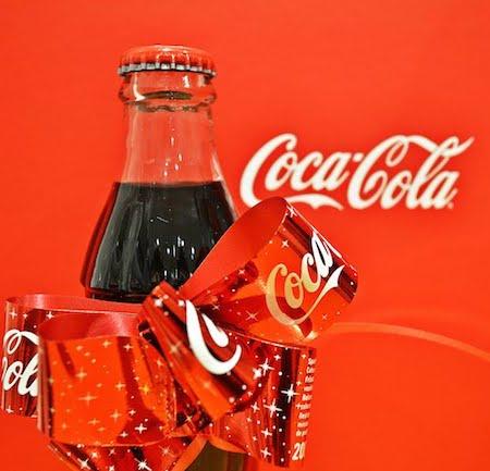 美國Coca-cola聖誕收藏版拉花懷舊玻璃樽可樂