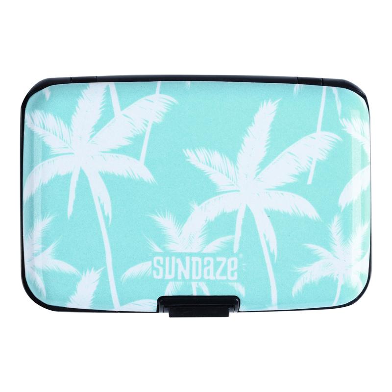 Sundaze 卡片盒 卡片套 名片盒 小銀包 card holder - 藍色棕櫚款