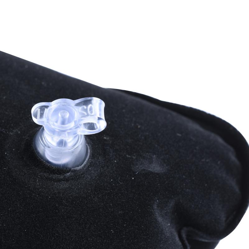 U型吹氣頸枕 護頸枕 旅行頸枕- 黑色