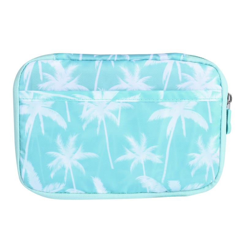旅行護照收納銀包 旅行銀包 出門銀包 出門收納 -藍色棕櫚