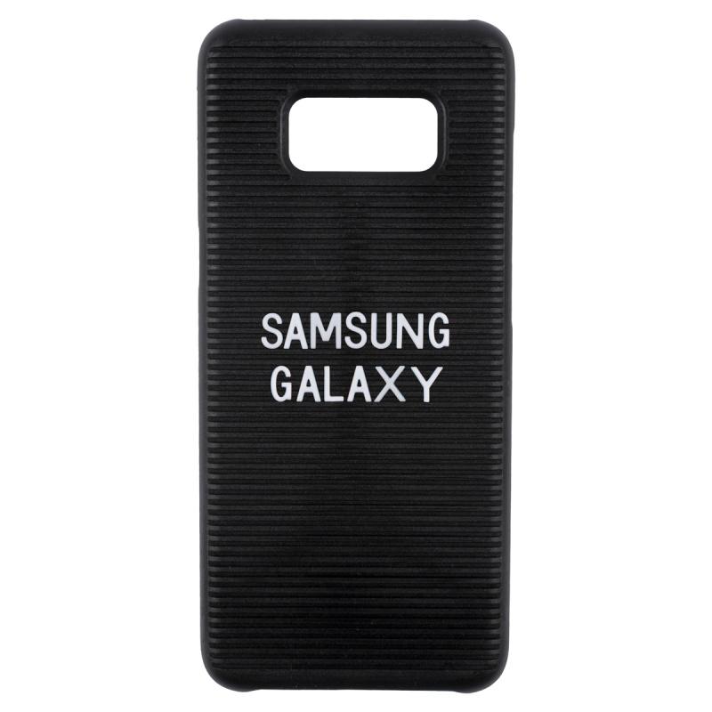 電話殻 手機殼 Samsung 三星 S8 保護殼 - 插字款黑色 letterboard phonecase