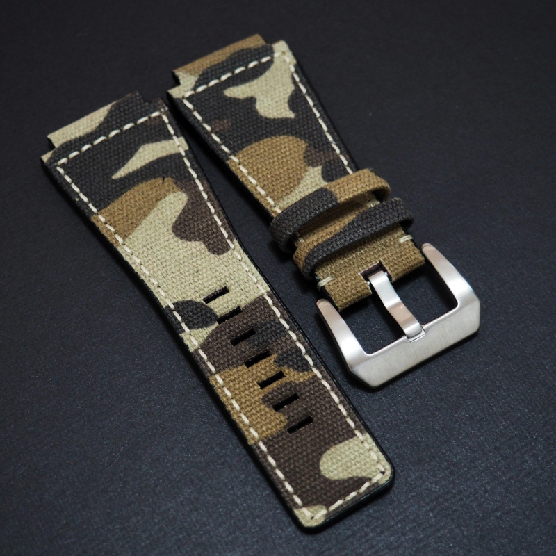 24mm Bell & Ross 棕色迷彩尼龍錶帶