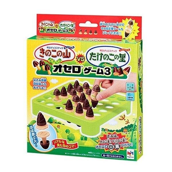 日本MegaHouse 明治蘑菇vs竹筍巧克力造型黑白棋
