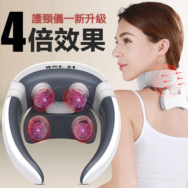 日本JTSK - 無線遙控四按摩頭充電款智能頸椎按摩器經絡儀