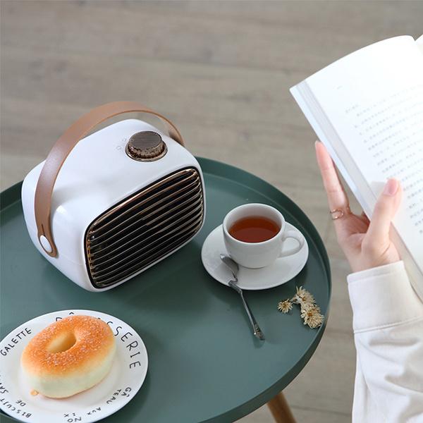TSK 迷你家用冷暖兩用桌面暖風機取暖器