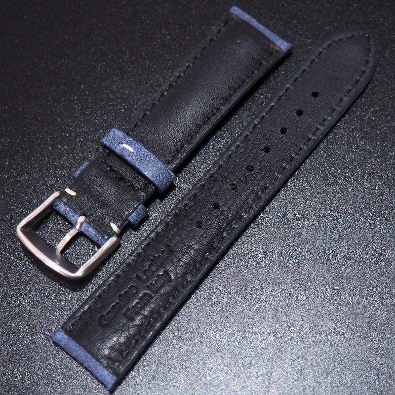 全新20mm 藍色意大利牛皮錶帶 適合Rolex, Omega, IWC ,Tudor