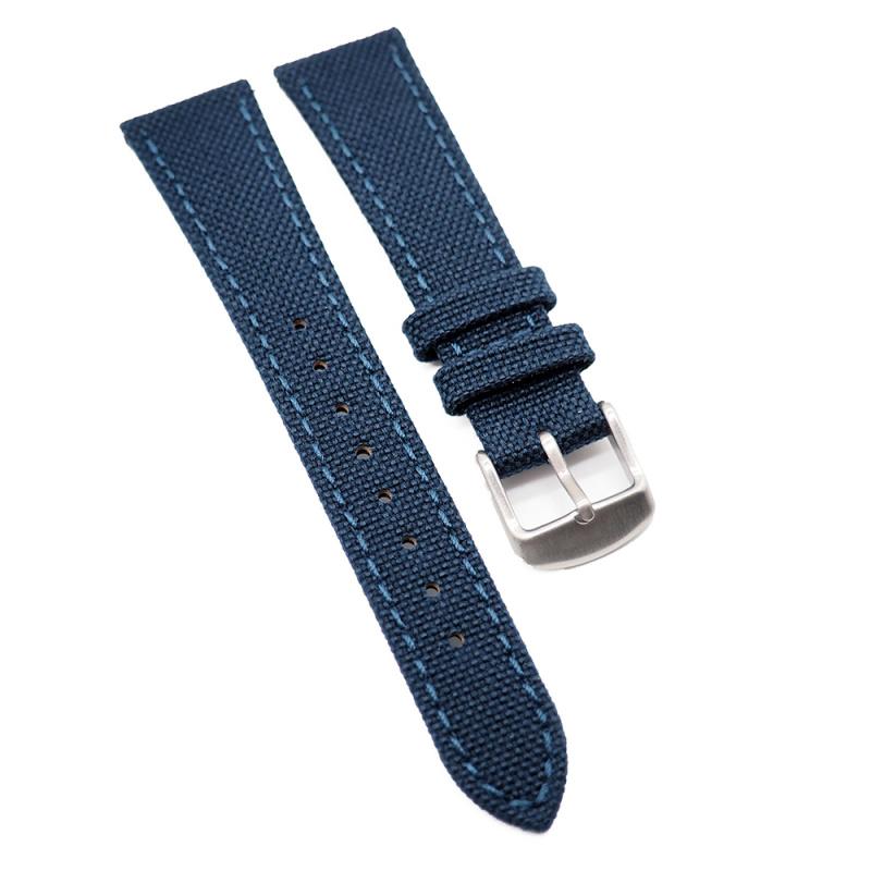 20mm Cordura 深藍色尼龍面牛皮錶帶, 快拆生耳