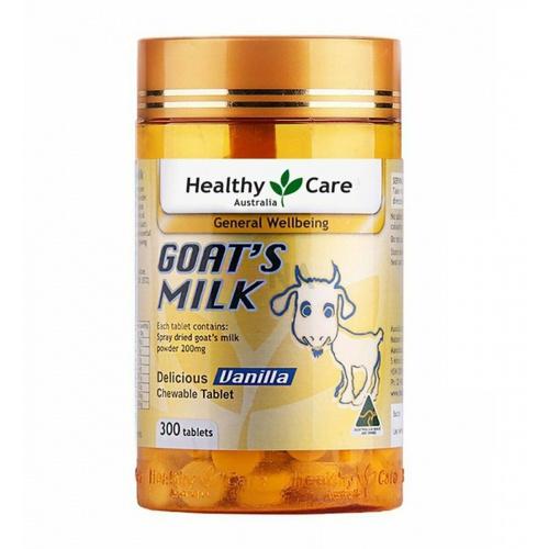 Healthy Care 羊奶咀嚼片 雲呢拿味 [300粒]