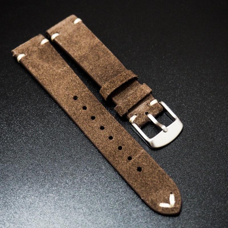 18mm 經典棕色意大利牛皮錶帶 適合Rolex, Omega, Iwc ,Tudor, Seiko