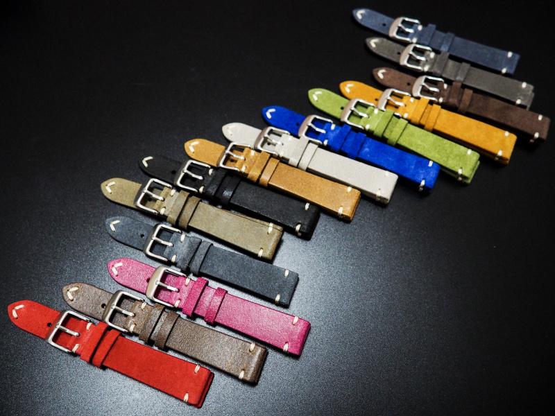 18mm 經典藍色意大利牛皮錶帶 適合Rolex, Omega, Iwc ,Tudor, Seiko