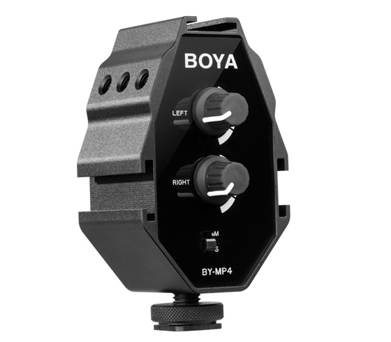 BOYA BY-MP4 (Audio adapter For DSLRs, Camcorders and Smartphones)