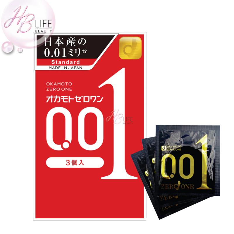 Okamoto Condoms Zero 1 岡本001避孕套(沒感超薄)(3個裝)