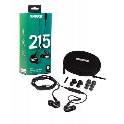 SHURE SE215-K-UNI-A 隔音耳機