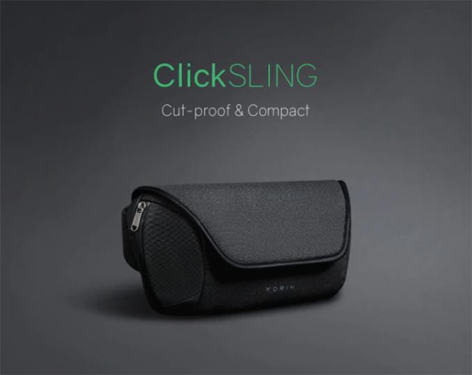 美國 KORIN ClickSling 高級簡約防盜單肩背包 預訂 : 11月30日寄出