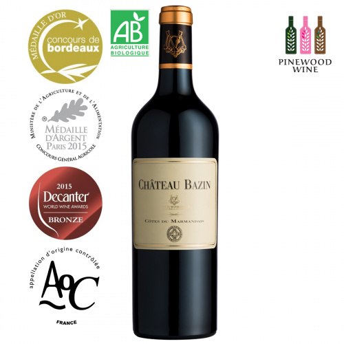 Chateau Bazin 法國白仙莊園有機紅酒- AOC Côtes du Marmandais 2016