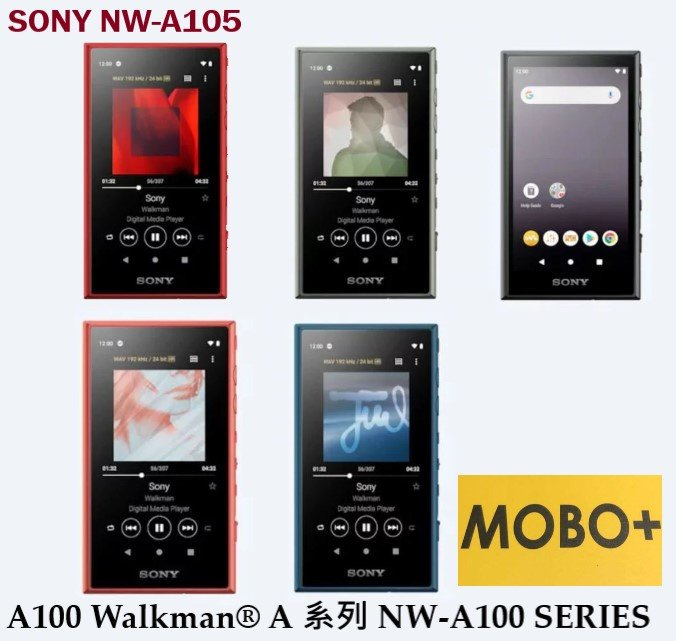 SONY NW-A105 MP3 播放器 [支援 Android™ 並兼容 Wi-Fi] [5色]