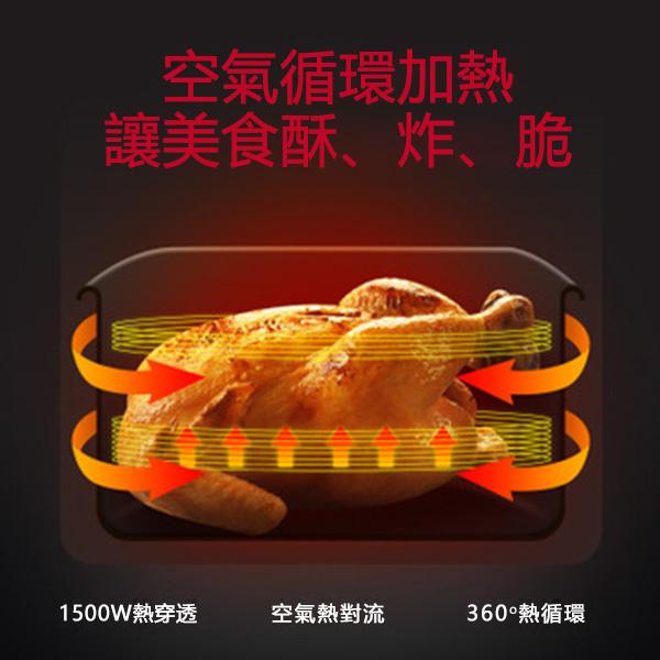 日本TSK AF107 5.5L多功能液晶觸屏雙鍋健康無油空氣炸鍋