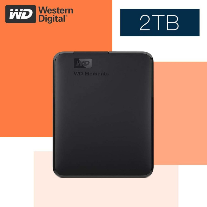 WD - 2TB Elements Portable 外置硬盤 - WDBUZG0020BBK-CESN