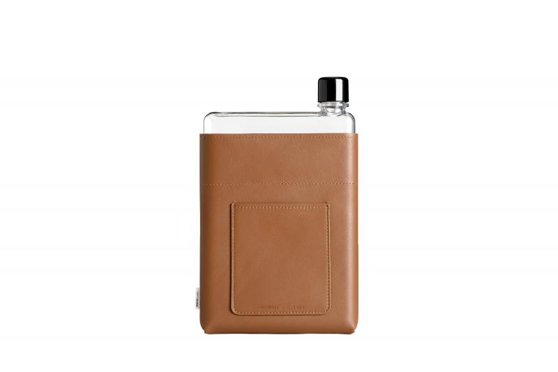 Memobottle - A5 水樽皮革套 啡色 (不包含水樽)