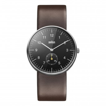 Braun Gents - BN0024 Classic Watch - Black Dial and Brown Leather Strap
