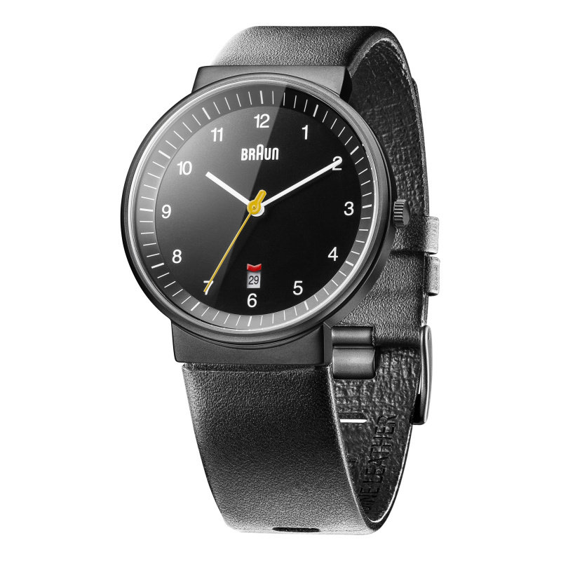 Braun Gents - BN0032 Classic Watch - Black Dial and Black Leather Strap
