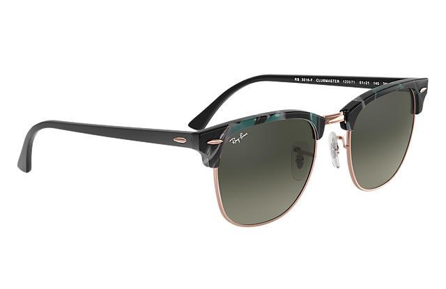 Ray-Ban RB3016F Clubmaster Fleck Grey Gradient 漸變灰色鏡片太陽眼鏡 | 125571 玳瑁啡色&黑色鏡框