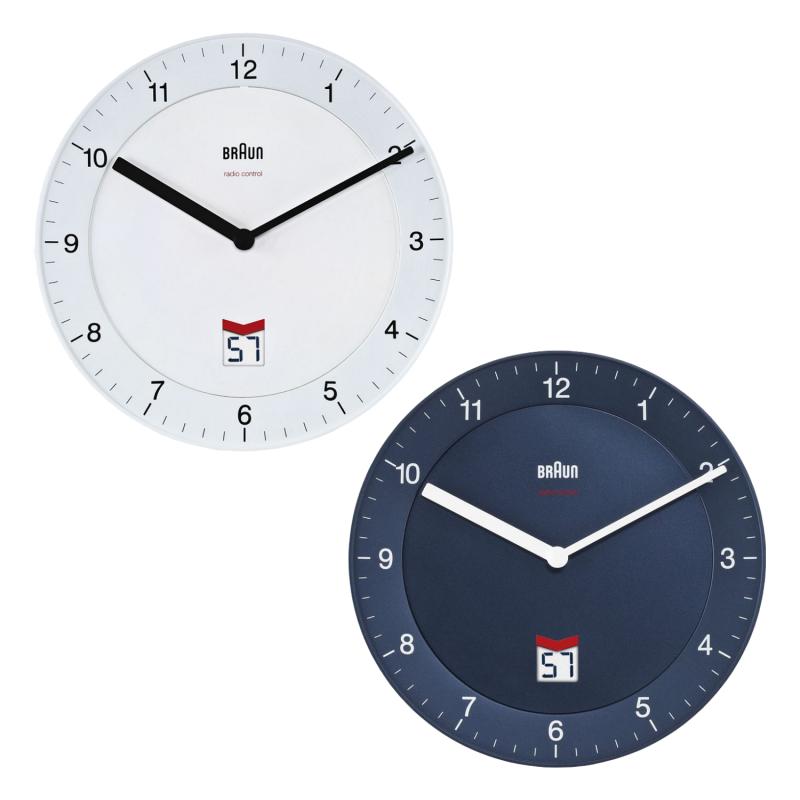 Braun Clock - BNC006 Classic Radio Controlled Round Wall Clock